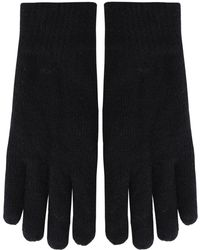GANT - Knitted Wool Blend Gloves - Lyst