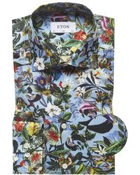 Eton of Sweden - Contemporary Fit Floral Shirt - Lyst