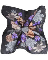 Eton of Sweden - Silk Floral Pocket Square - Lyst