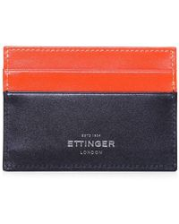 Ettinger - Calf Leather Sterling Visiting Card Case - Lyst