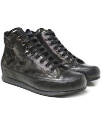 Candice Cooper - Monet Shearling Lined High Top Trainers - Lyst