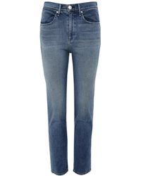 Rag & Bone - High Rise Ankle Cigarette Jeans - Lyst
