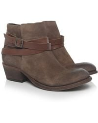 H by Hudson - Horrigan Leather & Suede Boots - Lyst