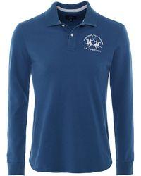 La Martina - Long Sleeve Milo Polo Shirt - Lyst