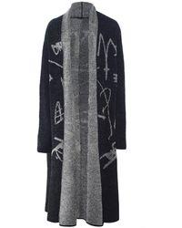 Moyuru - Wool Open Front Knitted Coat - Lyst