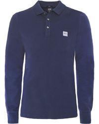 BOSS Orange - Long Sleeve Passerby Polo Shirt - Lyst