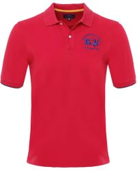 La Martina - Plain Polo Shirt - Lyst