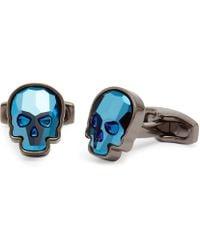 Simon Carter - Swarovski Crystal Skull Cufflinks - Lyst