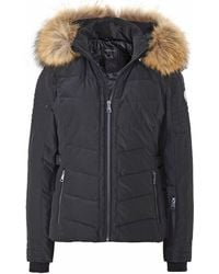 Oakwood - Fur Trim Waterproof Puffa Jacket - Lyst