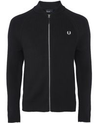 Fred Perry - Bomber Neck Cardigan K5506 102 - Lyst