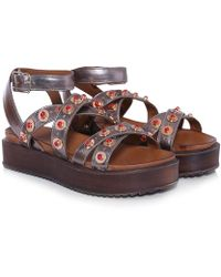 495eb9acc157 Lyst - Inuovo Beaded Starfish Sandals in Brown
