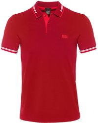BOSS Green - Slim Fit Paul Polo Shirt - Lyst