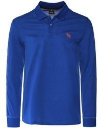 PS by Paul Smith - Regular Fit Long Sleeve Zebra Polo Shirt - Lyst