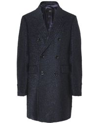BOSS - Wool Blend Darvin4 Double Breasted Coat - Lyst