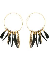 Gas Bijoux - Marly Feather Hoop Earrings - Lyst