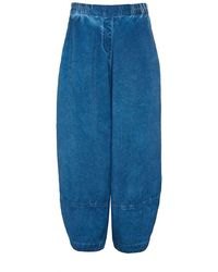 Grizas - Washed Linen Cropped Trousers - Lyst
