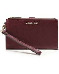 704578af031ab9 MICHAEL Michael Kors Vanna Large Phone Leather Crossbody in Pink ...