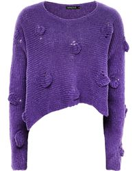 Grizas - Cropped Textured Jumper - Lyst