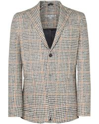 Circolo 1901 - Stretch Cotton Houndstooth Jacket - Lyst