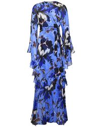 Diane von Furstenberg - Silk Lizella Maxi Dress - Lyst