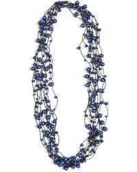 Jianhui - Multi Strand Faux Pearl Ribbon Necklace - Lyst