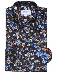 Eton of Sweden - Men's Slim-fit Floral Shirt - Navy - Lyst