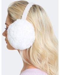 Yves Salomon - Wool Strap Fur Ear Muffs - Lyst