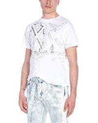 Off-White c/o Virgil Abloh - T-shirt 'Pencil eagle' - Lyst