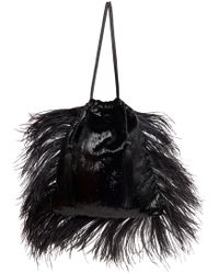 Attico - Ostrich Feathers Clutch - Lyst