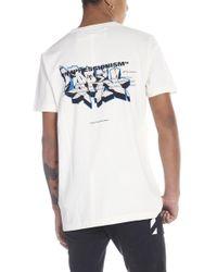 Off-White c/o Virgil Abloh - T-shirt 'Green man' - Lyst