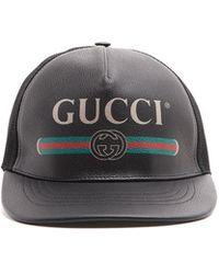 19ad5b7c Gucci Woolblend Drivers Cap in Black for Men - Lyst