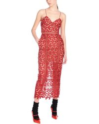 6d1fe6db045 Self-Portrait - Sleeveless Arabella Lace Dress - Lyst