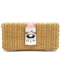 Miu Miu - Straw Crossboy Bag - Lyst
