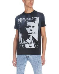 5e1eb47a17892e Dolce & Gabbana James Dean-Print Jersey T-Shirt in Gray for Men - Lyst