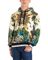 03cf6b7e Dolce & Gabbana King Of Hearts Hoodie in Black for Men - Lyst
