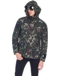 C P Company - Camouflage Parka - Lyst