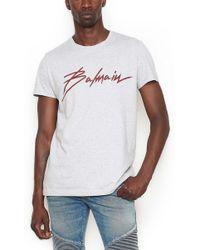 Balmain - Logo-print Cotton-jersey T-shirt - Lyst