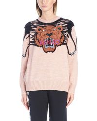 KENZO - Tiger Intarsia Sweater - Lyst