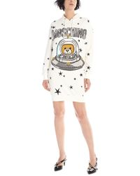 Moschino - Printed Hooded Dress - Lyst