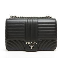 4f2dace2c0cd Lyst - Prada Saffiano+city Calf Handle Bag in Black