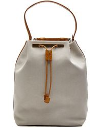 The Row - Natural Canvas Backpack 11 - Lyst