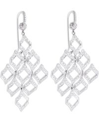 Nina Runsdorf | Diamond Kite Earrings | Lyst