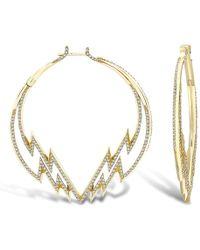 Venyx - Electra Diamond Hoop Earrings - Lyst