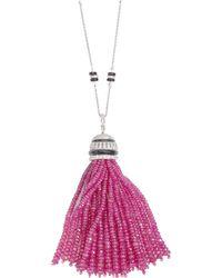 Sanjay Kasliwal - Ruby Tassel Necklace - Lyst