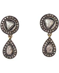 Kirat Young - Art Deco-style Diamond Earrings - Lyst