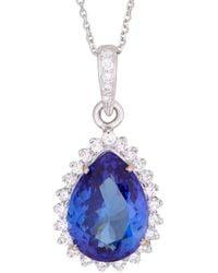 Sanjay Kasliwal | Tanzanite Blue Diamond Pendant | Lyst