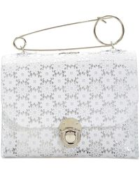 Julien David - Floral White Pvc Clutch - Lyst