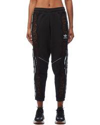 Stella McCartney - Adidas 3 Stripe Black Lace Track Pants - Lyst