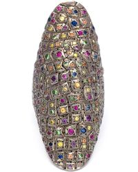 Venyx - Niloticus Ring With Rainbow Stones - Lyst