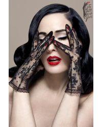 Dita Von Teese - The Flirteese Demi Gloves - Lyst